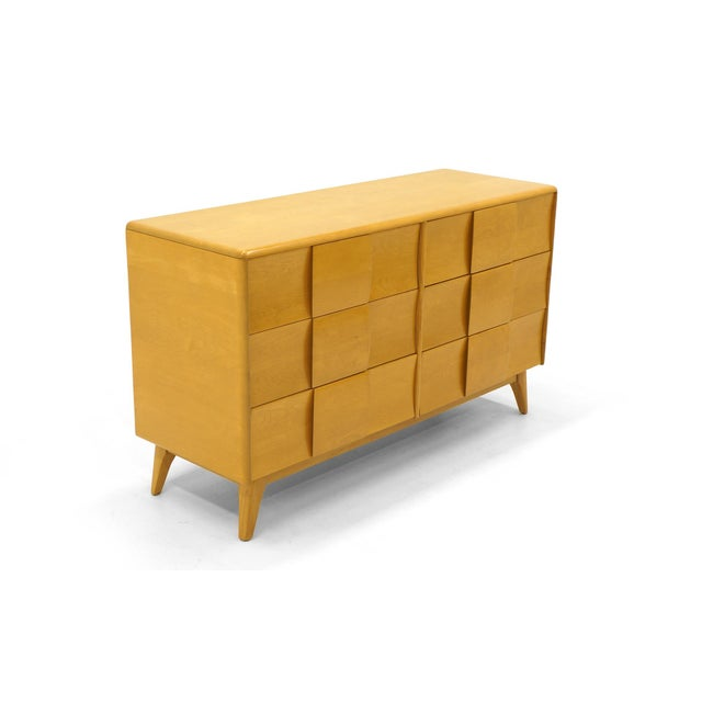 Heywood Wakefield six-drawer dresser in Champagne finish. The Sculptura line is the only Heywood Wakefield designs we buy...