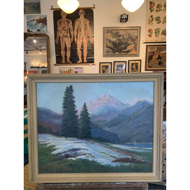 Mountain Landscape With Snow Melt Painting Signed B Weldon For Sale In Seattle - Image 6 of 6