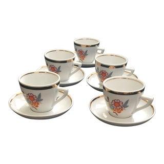 Porcelana Pozzani Jundiai Italian Espresso Set - Service for 5 For Sale