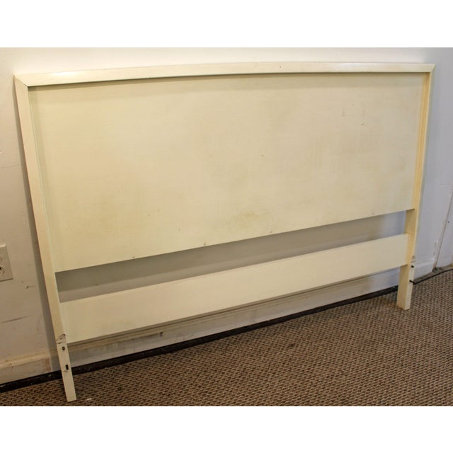 Danish Modern Mid-Century Danish Modern White Paul McCobb Planner Group Full Size Headboard For Sale - Image 3 of 11