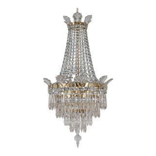 French Empire Style Crystal Chandelier For Sale