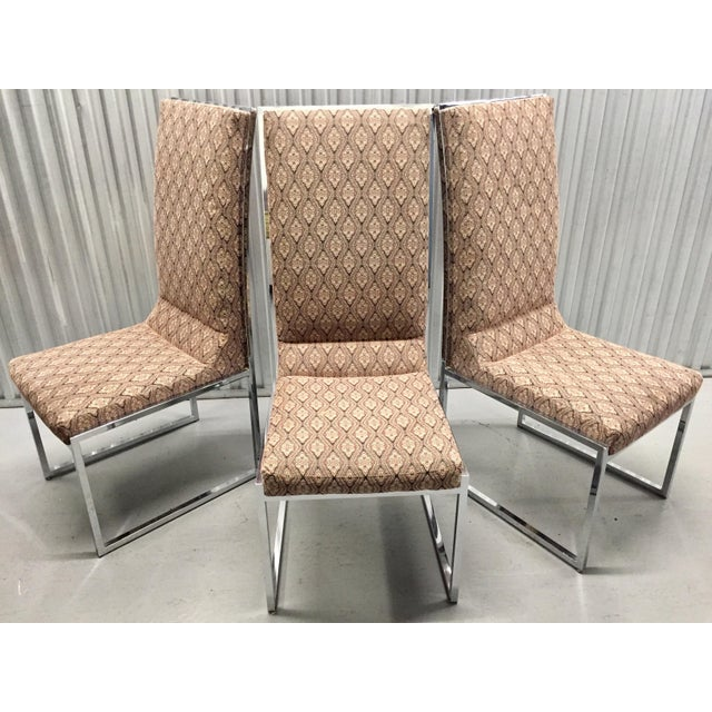 Milo Baughman Patterned Dining Chairs - Set of 6 - Image 11 of 11