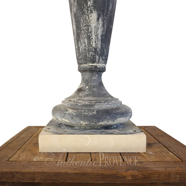 19th Century French Napoleon III Zinc Finial Urns - a Pair For Sale In West Palm - Image 6 of 11