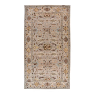 21st Century Modern Gray, Blue Sultanabad Rug 13 X 24 For Sale