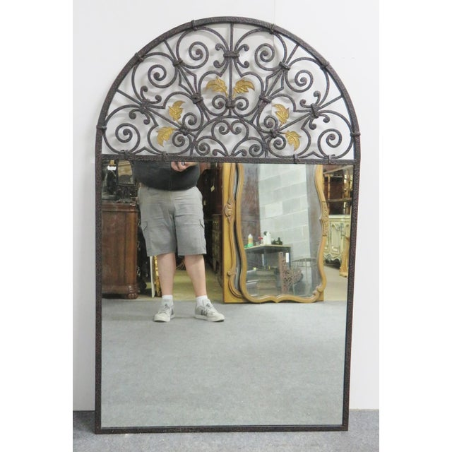 Casa Bique Hand Hammered Iron & Brass Mirror For Sale In Philadelphia - Image 6 of 6