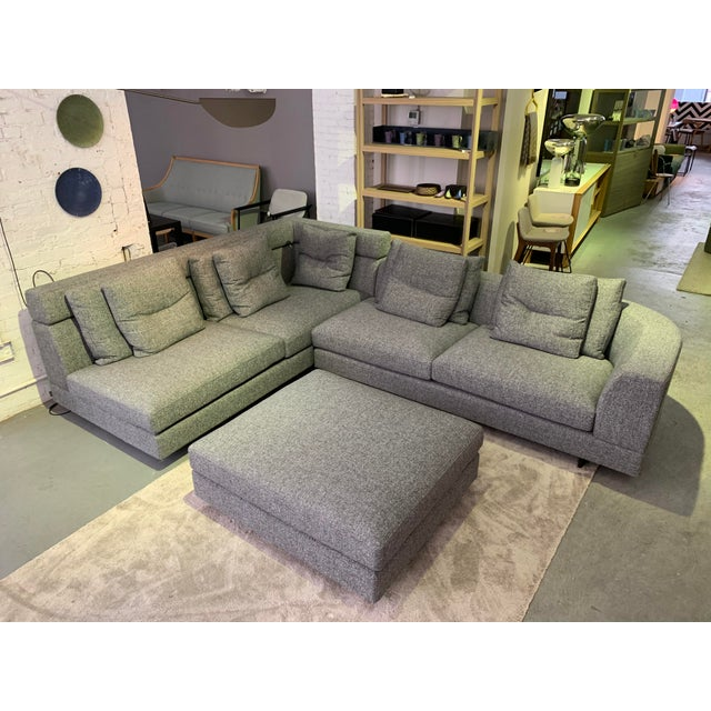 Dark Gray Contemporary Sectional Sofa For Sale - Image 8 of 8