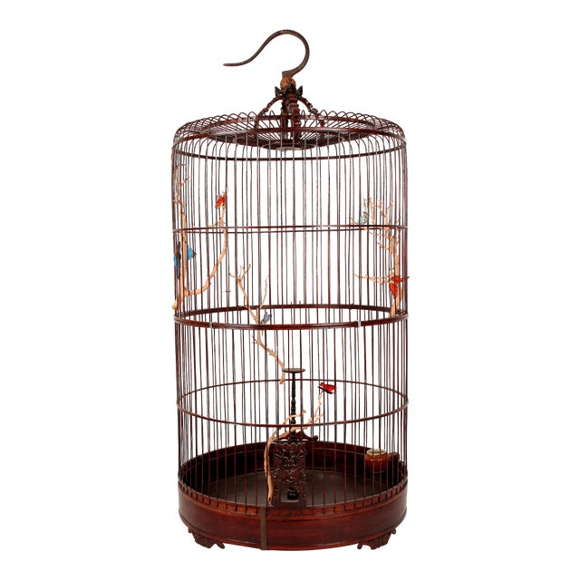 Early 20th Century Chinese Bamboo Cage For Sale