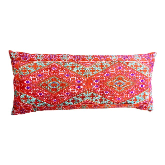 Swati Embroidered Lumbar Pillow For Sale