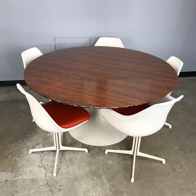 Burke Dining Set With Rosewood Tulip Table For Sale - Image 12 of 12