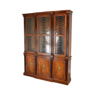 Baker Mahogany Regency Style Breakfront For Sale