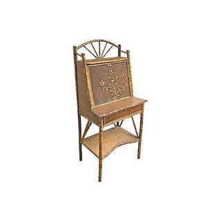 Antique Bamboo Secretary Desk Preview