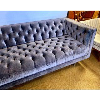Custom Mid Century Style Velvet Tufted Chesterfield Sofa Preview