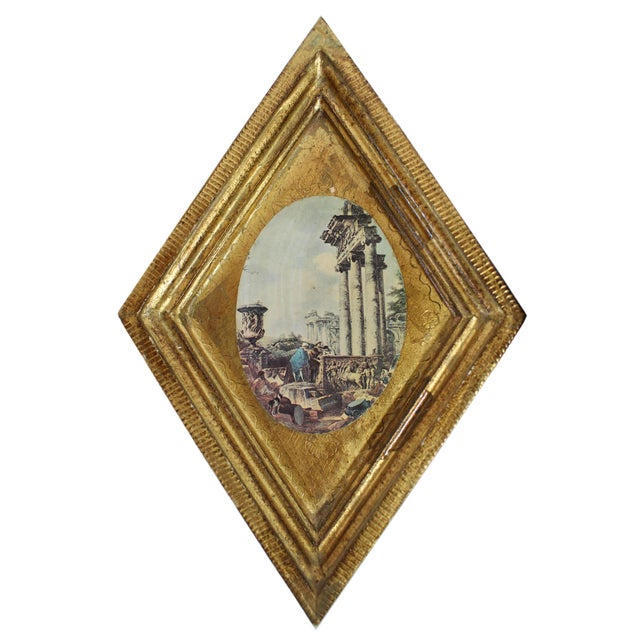 Gold Florentine Gilt Wood Wall Art Collection, Set of 7 For Sale - Image 8 of 13