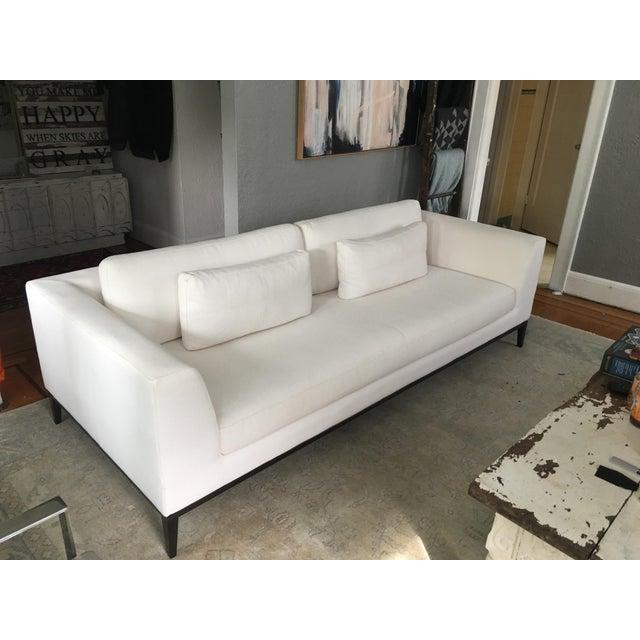 Astounding Rh Modern Italia Taper Arm White Sofa Lamtechconsult Wood Chair Design Ideas Lamtechconsultcom