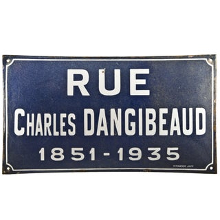 French Enamel Sign - Rue Charles Dangibeaud