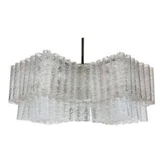 Glass Tube Chandelier by Doria For Sale
