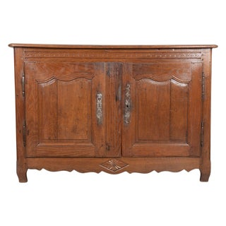 Dutch 19th Century Provincial Oak Buffet For Sale