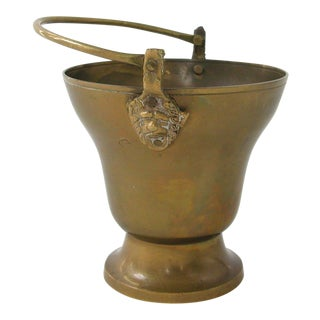 Vintage Brass Lion Bucket