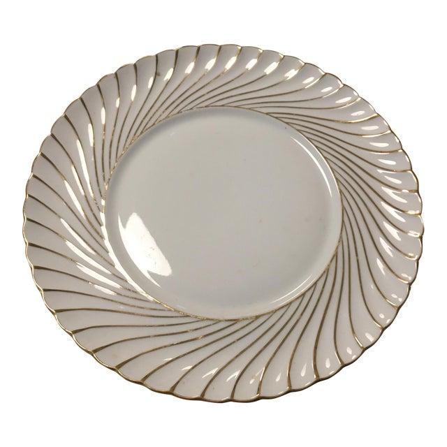 Waldershof Gold Swirl Plate For Sale