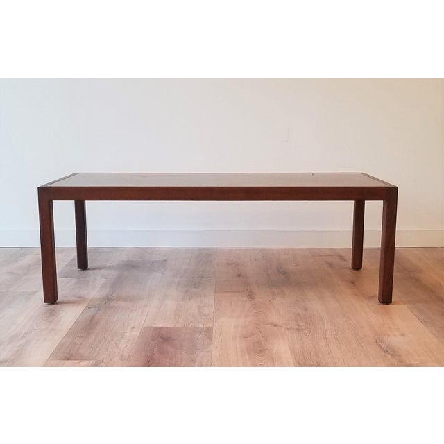 Mid-Century Modern Harry Lungstead Acid Etched Copper Inaly Coffee Table For Sale - Image 3 of 8