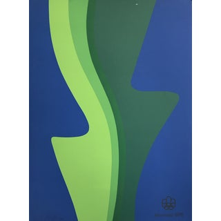 Original 1976 Vittorio Limited Edition Montreal Olympic Poster, Signed For Sale
