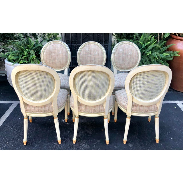 Set of 6 French Louis XVI Balloon Back Dining Chairs