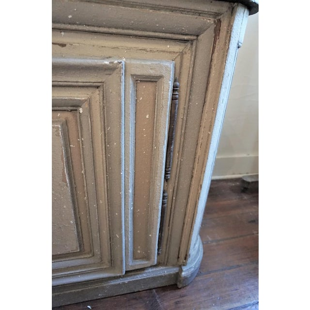 White 19th Century French Painted Buffet For Sale - Image 8 of 10