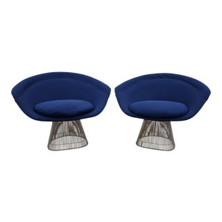 Vintage Mid Century Warren Platner for Knoll Lounge Chairs- A Pair For Sale