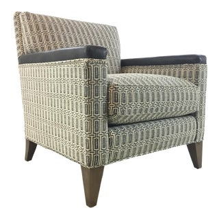 Hickory White Modern Black and White Club Chair 4234-01 For Sale