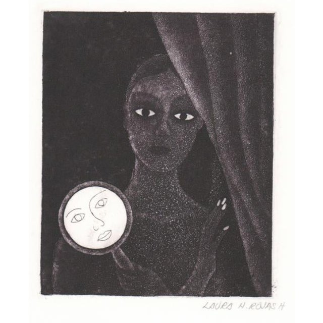 Laura Rojas Aquatint of Lady Holding Mirror For Sale In Atlanta - Image 6 of 6