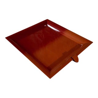 Hermès Large Chakor Dip Dyed Lacquered Wood Tray For Sale