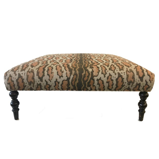 Contemporary Upholstered Coffee Table For Sale - Image 4 of 5
