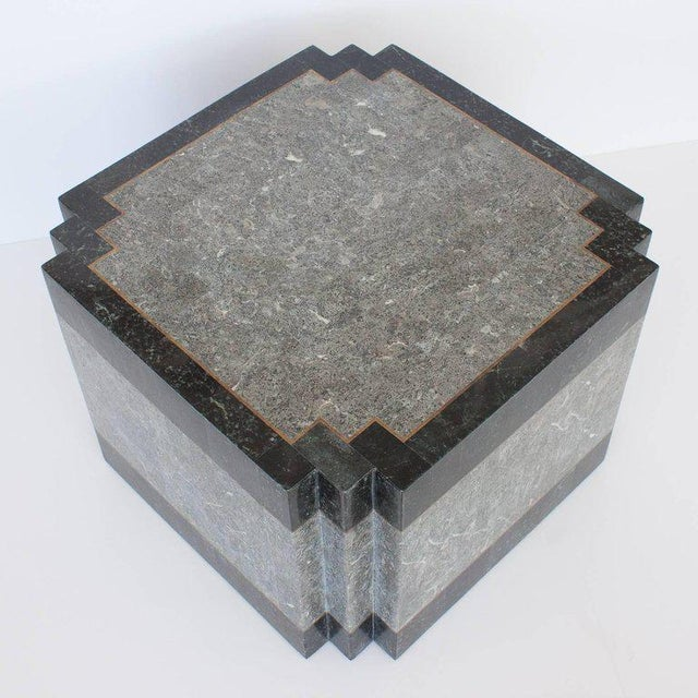 Maitland - Smith Maitland-Smith Tessellated Stone and Brass Side or End Table For Sale - Image 4 of 9