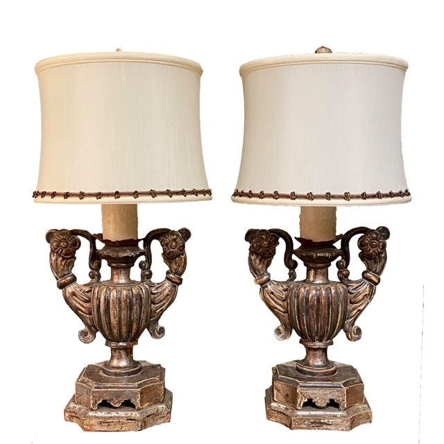 Silver Gilt Pick Candlesticks as Lamps - a Pair For Sale In Dallas - Image 6 of 6