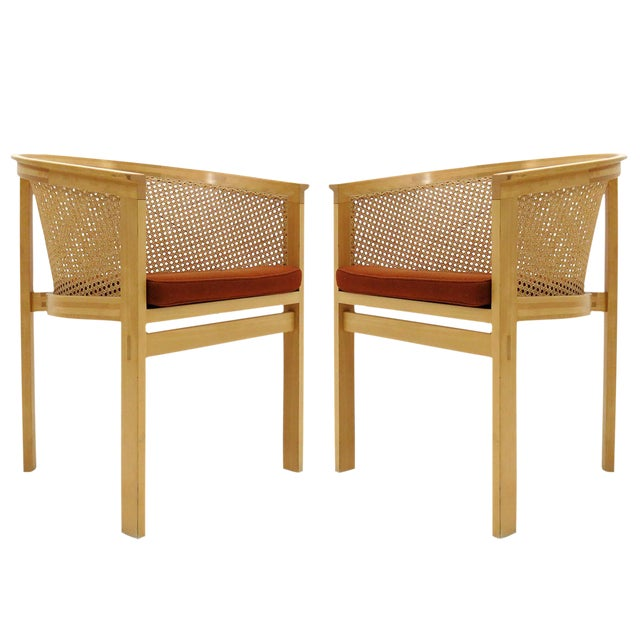 1980s Vintage Rud Thygesen & Johnny Sørensen Model 7703 King Series Armchairs- A Pair For Sale