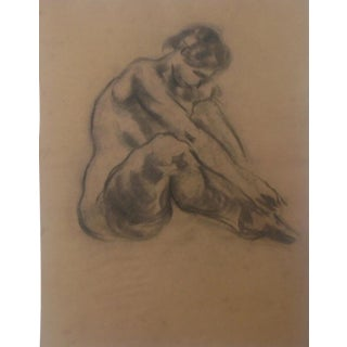 1930s Vintage Raphael Soyer Artist Sketchbook Nude Drawing For Sale