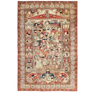 Antique Persian Kerman Rug - 7′1″ × 10′6″ For Sale