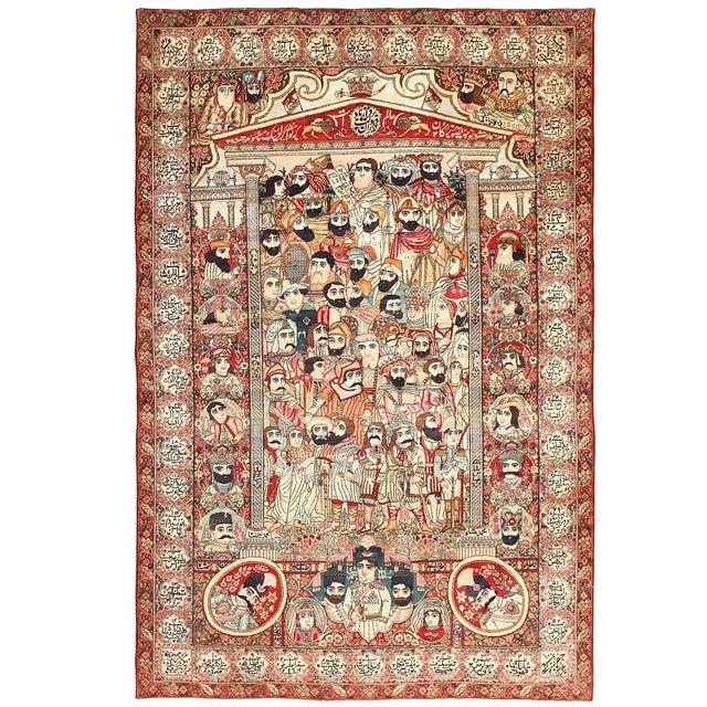 Antique Persian Kerman Rug - 7′1″ × 10′6″ For Sale