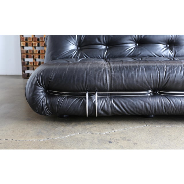 1970s Vintage Soriana Settee by Afra & Tobia Scarpa for Cassina For Sale In Los Angeles - Image 6 of 13