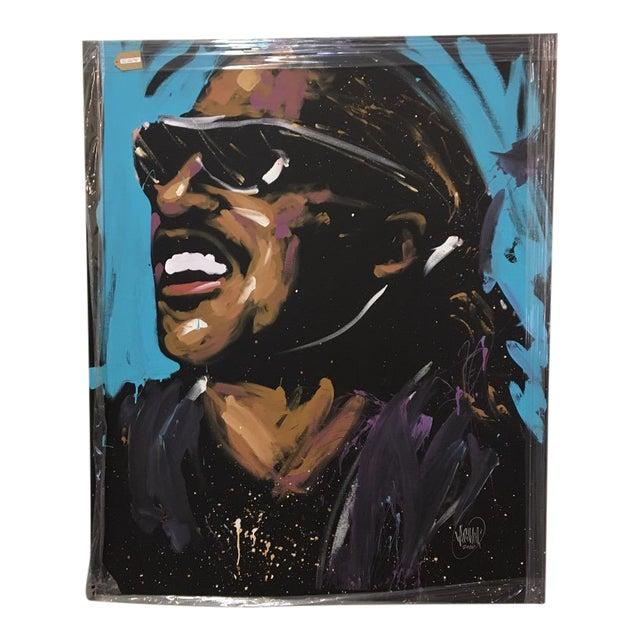 Stevie Wonder Original Painting by David Garibaldi - Image 1 of 4