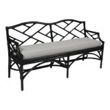 Image of Chippendale Bench - Black For Sale