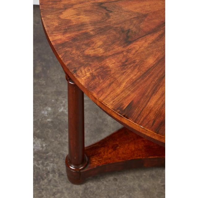 Italian Empire Deep Brown Walnut Center Table - Image 6 of 9
