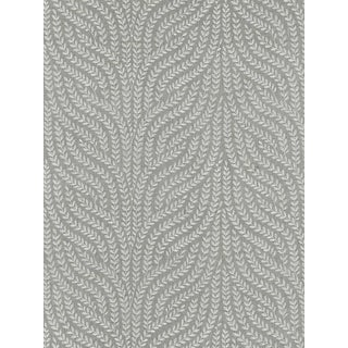 Sample, Scalamandre Willow Vine Embroidery, French Grey Fabric For Sale