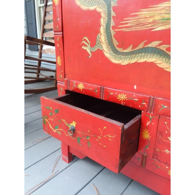 Red Dragon Wine Cabinet For Sale - Image 6 of 11