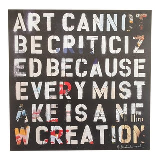 "Mr. Brainwash Original Lithograph Print Poster ""Art Cannot Be Crticized"""