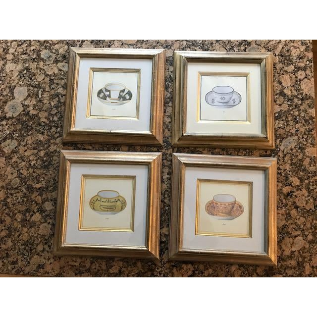 Trowbridge Gallery Numbered Teacup Square Prints in Gilt Frames - Set of 4 For Sale - Image 13 of 13