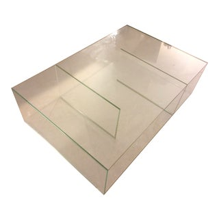 Italian Glass Made Coffee Table