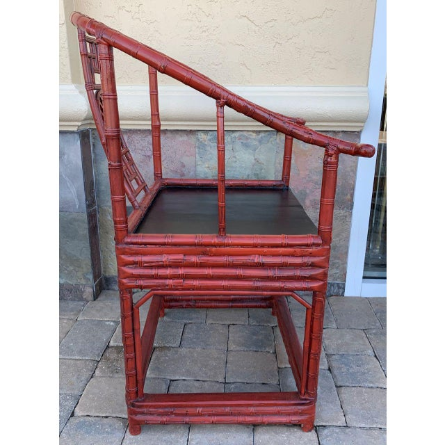 Red Late 19th Century Ming Style Quanyi Chairs -2- For Sale - Image 8 of 13
