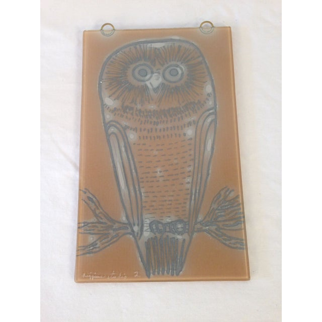 Vintage Higgins Owl Plaque - Image 5 of 6