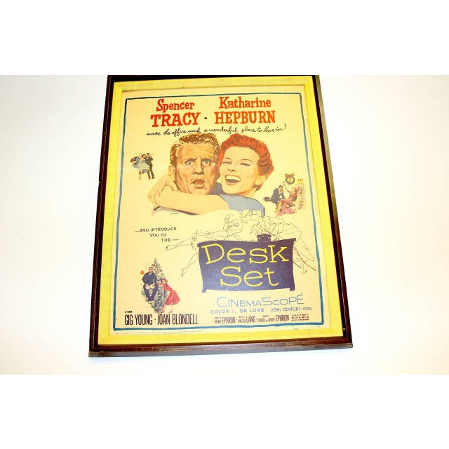 "Original Dated & Numbered Tracy And Hepburn 1957 Movie Poster ""Desk Set"" For Sale - Image 5 of 5"